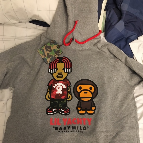 be21447d Bape Shirts | X Lil Yachty Hoodie Grey Size Large Brand New | Poshmark